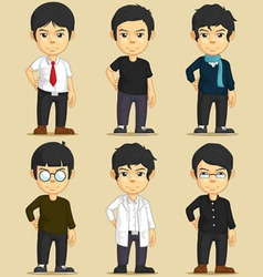 Handsome Young Man Character Set vector image vector image