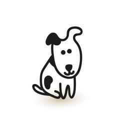 Little cute puppy sketch vector image vector image