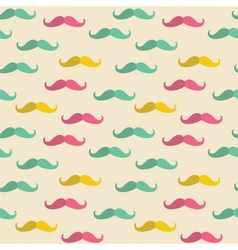 Seamless mustache pattern vector image