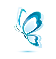 blue butterfly beauty concept isolated symbol vector image vector image