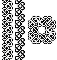 Celtic Irish knots braids and patterns vector image vector image