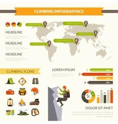 Climbing Infographics Set vector image vector image
