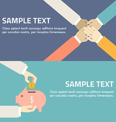 Flat design concept for partnership and investment vector image