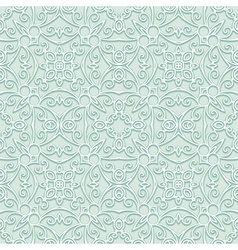 Green lacy pattern vector image vector image