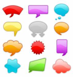 message bubbles vector image