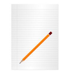 sheet and pencil vector image