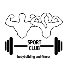 sport or fitness club emblem vector image