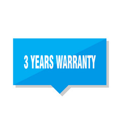 3 years warranty price tag vector image