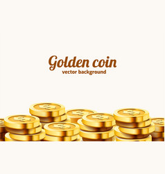 a lot coins on white background jackpot or vector image