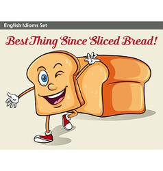 A sliced bread vector