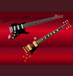 Abstract classic guitars vector