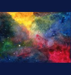 Abstract galaxy painting vector