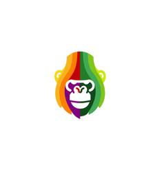 Abstract gorilla logo vector