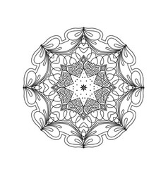 Abstract round ornament mandala vector