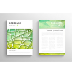 Abstract triangular brochure design template vector