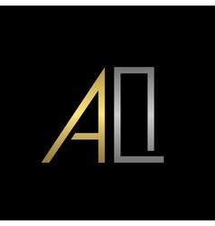 Aq letters logo vector