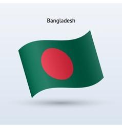 Bangladesh flag waving form vector image