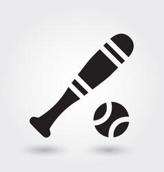 baseball sport icon baseball stick icon sports vector image