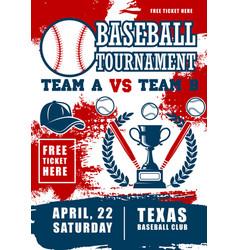 baseball sport league fan club vector image