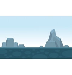 Big rock scenery backgrounds game vector image