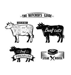 black cow symbol vector image