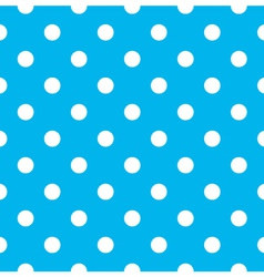 Blue polka dot seamless pattern design vector image