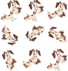 Cartoon Character Cute Hunting Dog vector