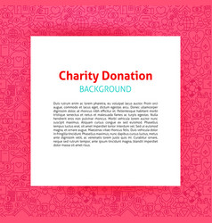 Charity donation paper template vector