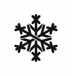 Christmas snowflake icon black simple style vector image