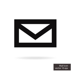 closed mail icon vector image
