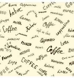 Coffee words background vector