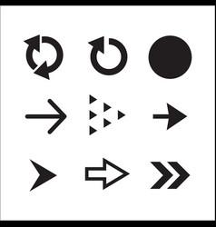 collection of black arrows vector image