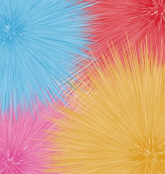 Colorful fantastic dandelions abstract flowers vector image