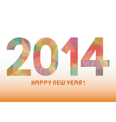 Colorful pattern new year 2014 vector