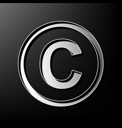 Copyright sign gray 3d vector