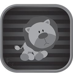 Cute animal icon vector
