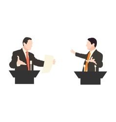 Debate two speakers Political speeches debates vector