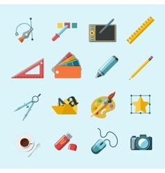 Designer Tools Icons vector image