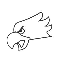 eagle emblem icon vector image