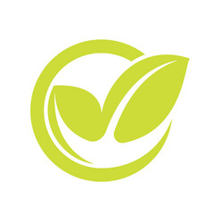 eco checkmark icon vector image
