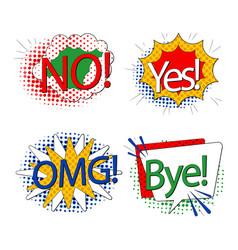 Element set words image vector