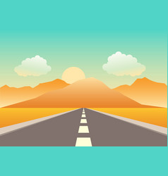 Empty road heading to the mountains vector