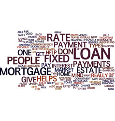 Fixed rate mortgage vs adjustable rate mortgage vector
