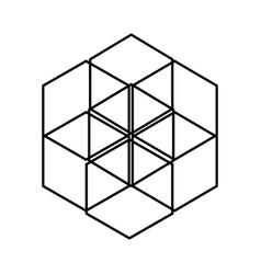 geometric figure icon vector image