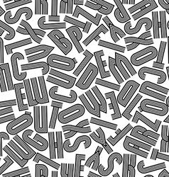 Geometric seamless pattern with letters background vector image
