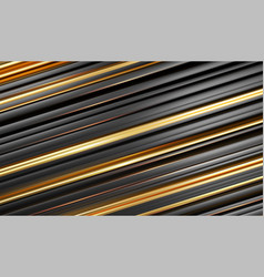 gold black line 3d modern style background vector image