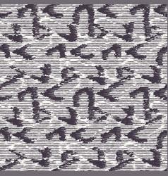 Grey white monochrome irregular woven effect vector