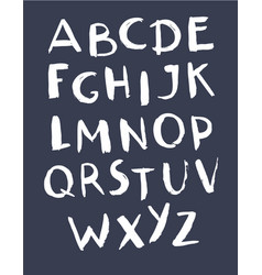 hand drawn alphabet abc contains painted letters vector image