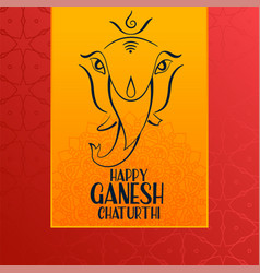 Happy ganesh chaturthi festival event greeting vector