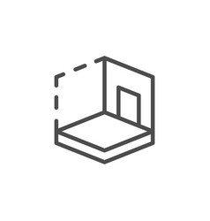 house 3d modeling line icon vector image
